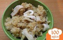 Фото рецепта: «Восточный рис с кальмаром»