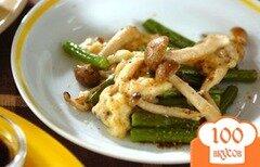 Фото рецепта: «Сливочный салат из фасоли с грибами»