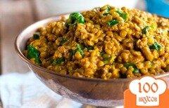 Фото рецепта: «Чечевица с пастой карри и шпинатом»
