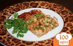 Фото рецепта: «Пицца из курицы под соусом барбекю»
