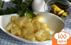 Фото рецепта: «Классический немецкий картофельный салат»