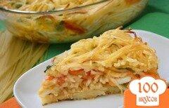 Фото рецепта: «Пирог со спагетти»
