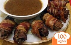 Фото рецепта: «Рулетики из говядины с начинкой»
