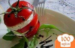 Фото рецепта: «Томат-Моцарелла (салат)»