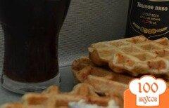 Фото рецепта: «Цельнозерновые вафли с творогом и сыром»