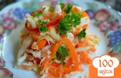 Фото рецепта: «Слоппи капустный салат с соусом»