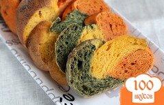 Фото рецепта: «Трехцветный хлеб»