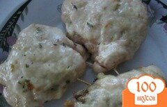 Фото рецепта: «Куриные рулетики с грибами, морковью и луком»