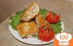 Фото рецепта: «Горячий рыбный рулет из лаваша»