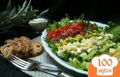 Фото рецепта: «Овощной салат с хрустящим беконом»