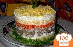 """Фото рецепта: «Салат слоеный """"Печень под шубой""""»"""