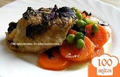 Фото рецепта: «Курица с морковью и зеленым горошком»