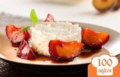 Фото рецепта: «Кокосовый рис со сливами в карамели»