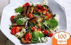 Фото рецепта: «Жареные баклажаны с помидорами»