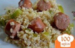 Фото рецепта: «Рис с колбасками»