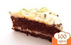 Фото рецепта: «Морковно-шоколадный торт с кремом»
