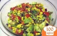 Фото рецепта: «Сальса с кукурузой и авокадо»