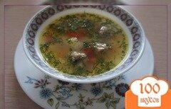 Фото рецепта: «Быстрый суп с фрикадельками и фасолью»