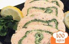 Фото рецепта: «Рыбный рулет-суфле со шпинатом»
