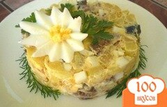 Фото рецепта: «Картофельный салат с копченой иваси»