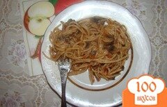 Фото рецепта: «Спагетти с грибами и помидорами»