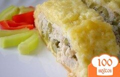 Фото рецепта: «Рулет из сыра и курицы»