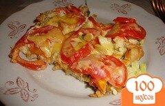 Фото рецепта: «Цветная капуста с яйцом и помидорами»