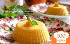 """Фото рецепта: «Пирожное-суфле из хурмы с абрикосовым конфитюром """"Оранжевые облака""""»"""
