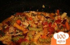 Фото рецепта: «Курица минестроне с пастой и овощами»