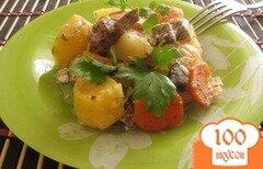 Фото рецепта: «Мясо с картофелем в рукаве»