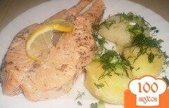 Фото рецепта: «Семга с отварным картофелем»