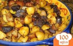 Фото рецепта: «Жареный картофель с зеленью»