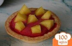 Фото рецепта: «Вишневые пирожные в тарталетках»
