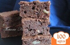 Фото рецепта: «Шоколадные брауни с орехами»