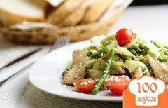 Фото рецепта: «Салат из стручковой фасоли с курицей»