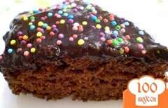 Фото рецепта: «Пирог шоколадно-морковный»