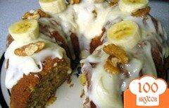 Фото рецепта: «Банановый торт с сырной глазурью»