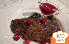 Фото рецепта: «Говяжья печень с клюквенным соусом»