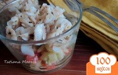 Фото рецепта: «Разгрузочный салатик с рыбой»