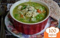 Фото рецепта: «Суп куриный с зеленым горошком»