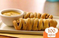 Фото рецепта: «Сосиски, запеченные в тесте»