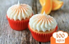 Фото рецепта: «Апельсиновые кексы с шоколадом»