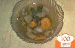 Фото рецепта: «Заливное из грибов и моркови»