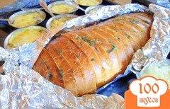 Фото рецепта: «Хлеб, запечённый с ароматным маслом.»
