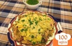 Фото рецепта: «Бешбармак с курицей»