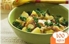 "Фото рецепта: «Тёплый салат с картофелем ""Лето в деревне""»"