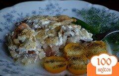 Фото рецепта: «Рыба запеченная с жареным хреном и луком»