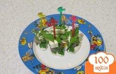 Фото рецепта: «Канапе с сельдью и перепелиными яйцами»
