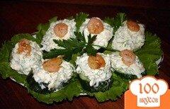 Фото рецепта: «Огуречные канапе с креветками»