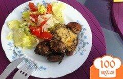 Фото рецепта: «Медальоны из говядины, запеченные с шампиньонами и сыром»